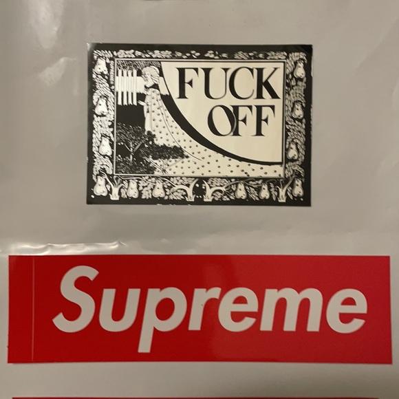 Supreme chrome sticker